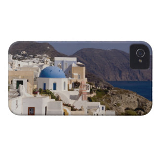 Beautiful village of Oia with white buildings iPhone 4 Covers
