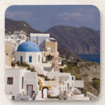 Beautiful village of Oia with white buildings Drink Coaster