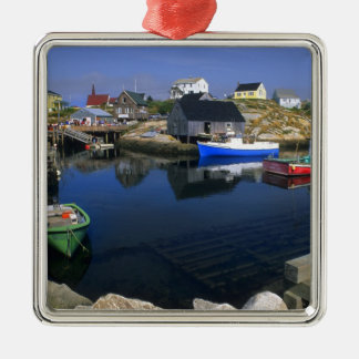 Beautiful village of Peggy's Cove with harbor Metal Ornament