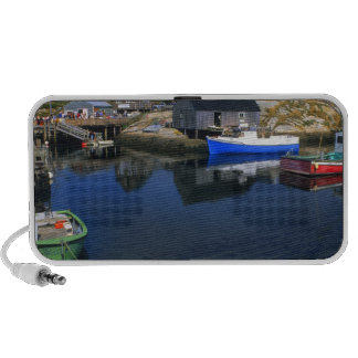 Beautiful village of Peggy's Cove with harbor Mini Speaker