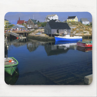 Beautiful village of Peggy's Cove with harbor Mouse Pad