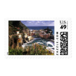 Beautiful Village of Vernazza in the Cinque Postage Stamp