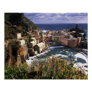 Beautiful Village of Vernazza in the Cinque Poster
