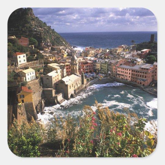 Beautiful Village of Vernazza in the Cinque Square Sticker