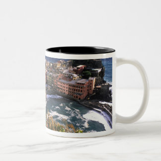 Beautiful Village of Vernazza in the Cinque Two-Tone Coffee Mug