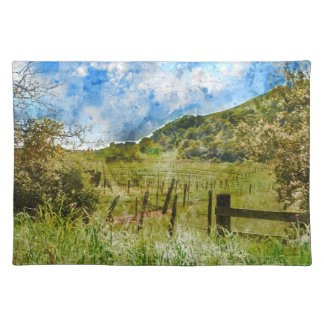 Beautiful Vineyard in Napa Valley Cloth Placemat