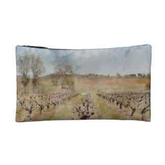 Beautiful Vineyard in Spring Cosmetic Bag