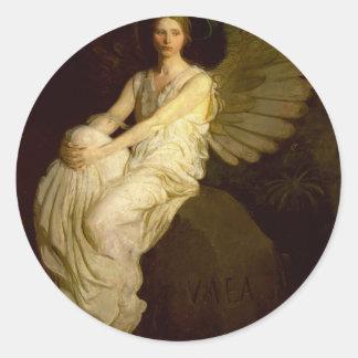 Beautiful Vintage Angel - Abbott Handerson Thayer Classic Round Sticker