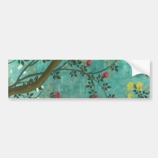 Beautiful vintage antique blossom tree butterflies bumper sticker