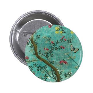 Beautiful vintage antique blossom tree butterflies buttons