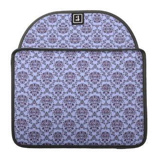 Beautiful vintage Art Nouveau floral blue pattern Sleeves For MacBook Pro