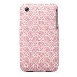 Beautiful vintage Art Nouveau floral pink pattern iPhone 3 Covers