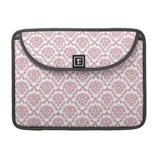 Beautiful vintage Art Nouveau floral pink pattern MacBook Pro Sleeves