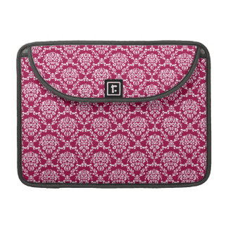 Beautiful vintage Art Nouveau floral red pattern Sleeve For MacBook Pro