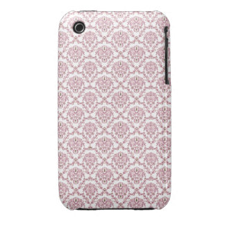 Beautiful vintage Art Nouveau pink wall pattern iPhone 3 Cases