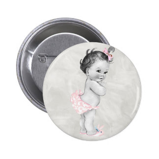 Beautiful Vintage Baby Girl Pinback Button
