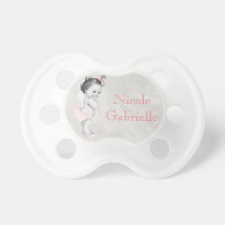 Beautiful Vintage Baby Personalized Name Pacifier