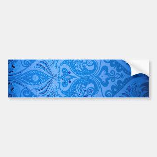 beautiful vintage birds blue pattern image print bumper sticker