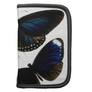 Beautiful vintage butterflies picture pattern folio planners