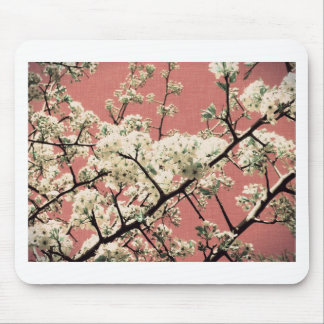 Beautiful Vintage Cherry Blossom Mouse Pad