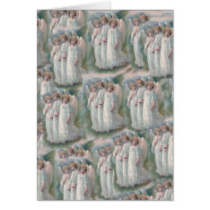 Beautiful Vintage Christian Angelic Angels Card at Zazzle