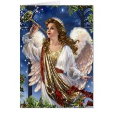 Beautiful Vintage Christmas Angel Card at Zazzle