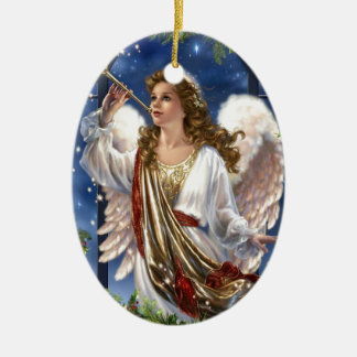 Beautiful Vintage Christmas Angel Ceramic Ornament