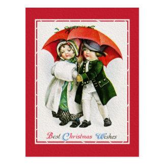 Beautiful Vintage Christmas Classic Retro Card