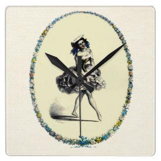 Beautiful Vintage Dancing Girl Wall Clocks