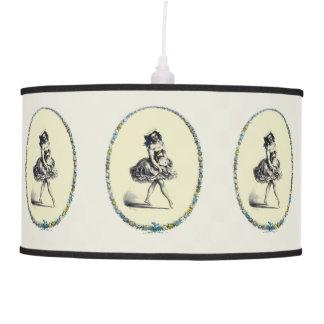 Beautiful Vintage Dancing Girl Ceiling Lamps