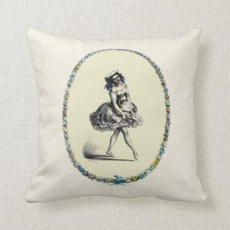 Beautiful Vintage Dancing Girl Pillows