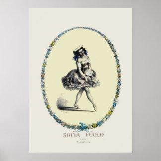 Beautiful Vintage Dancing Girl Posters
