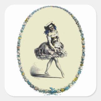 Beautiful Vintage Dancing Girl Sticker