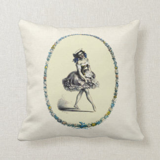 Beautiful Vintage Dancing Girl Throw Pillow