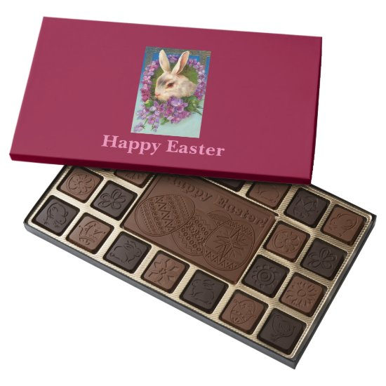 Beautiful Vintage Easter Bunny on Box of Chocolate