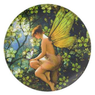 Beautiful Vintage Fairy Melamine Plate