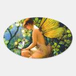 Beautiful Vintage Fairy Oval Sticker
