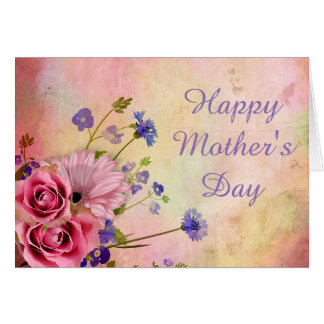 Beautiful Vintage Floral Mother's Day Card