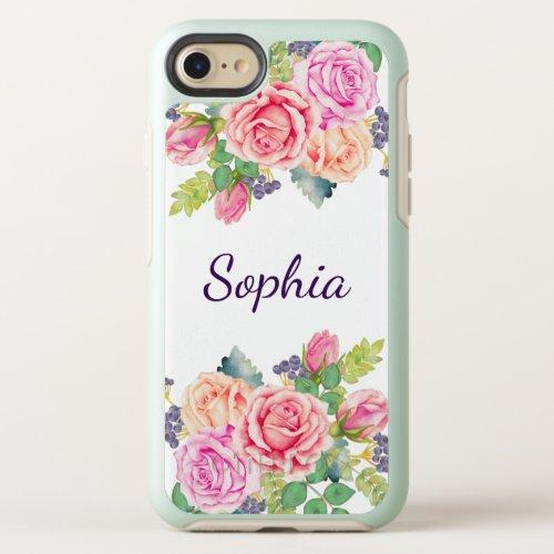 Beautiful Vintage Floral Roses Modern Wedding Phone Case