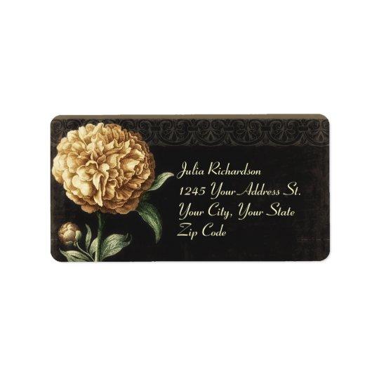 beautiful vintage flower wedding address labels