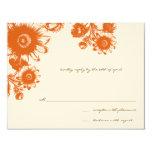 Beautiful Vintage Flower Wedding RSVP Card Personalized Invitation