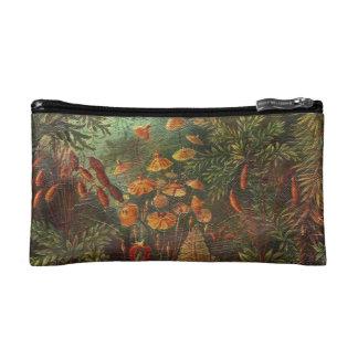 Beautiful Vintage Flowers Makeup Bag