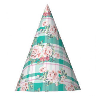 Beautiful Vintage Flowers Rose Pattern Party Hat