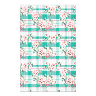 Beautiful Vintage Flowers Rose Pattern Stationery