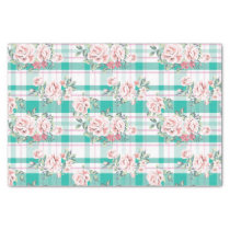 Beautiful Vintage Flowers Rose Pattern Tissue Paper