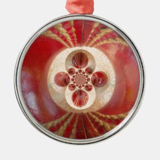 Beautiful Vintage Graphic Leather Cricket Balls.jp Metal Ornament