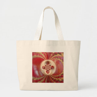 Beautiful Vintage Graphic Leather Cricket Balls. Large Tote Bag