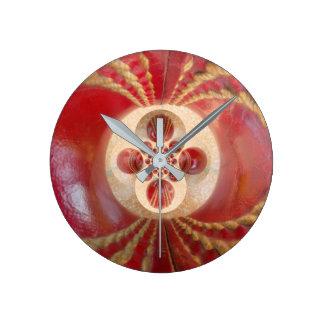 Beautiful Vintage Graphic Leather Cricket Balls Round Clock