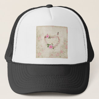 Beautiful Vintage Heart of Lace, Flowers, Trucker Hat