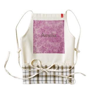 beautiful,vintage,hot pink,floral,pattern zazzle HEART apron